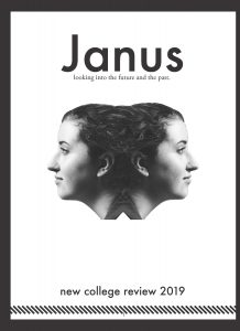 New College Review cover showing the word Janus above a woman's face reflected in two directions